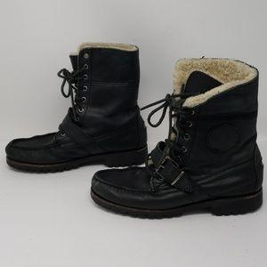 Polo Ralph Lauren Lined Black Ranger Tall Boots 7